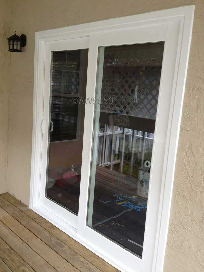 Replacement windows before and after photos for Patio window replacement