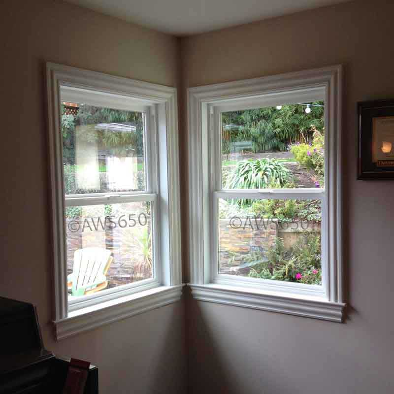Replacement windows before and after photos for Milgard vinyl windows